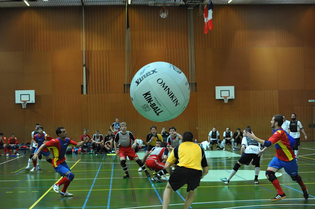 Kin Ball chp d'Europe Neuchâtel 2012