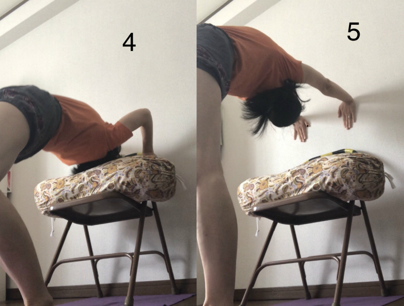 5.足と手を伸ばす