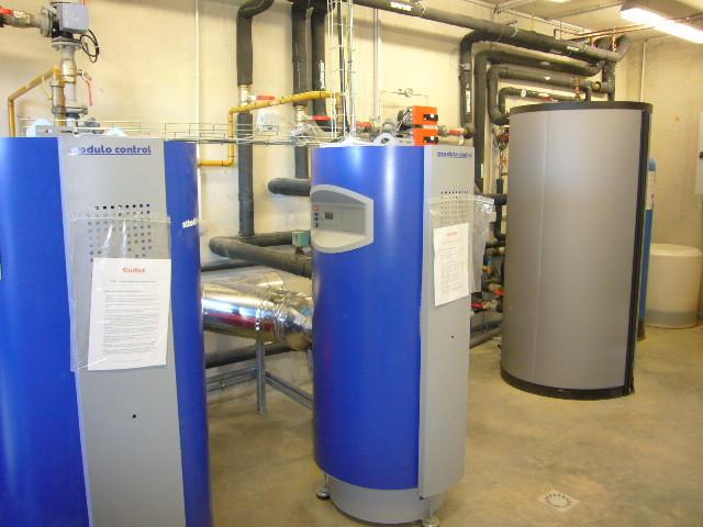 Chaufferie gaz avec production eau chaude