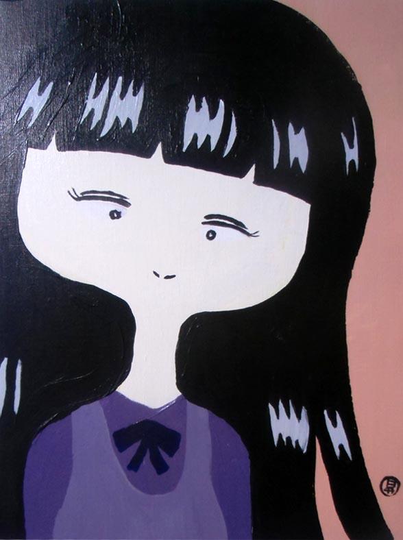 おねえちゃんは、そこにいた 平成29年1月31日 318×410mm キャンバスにアクリル