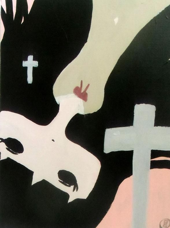 Slaughter memories 平成28年2月24日 455×380mm キャンバスにアクリル
