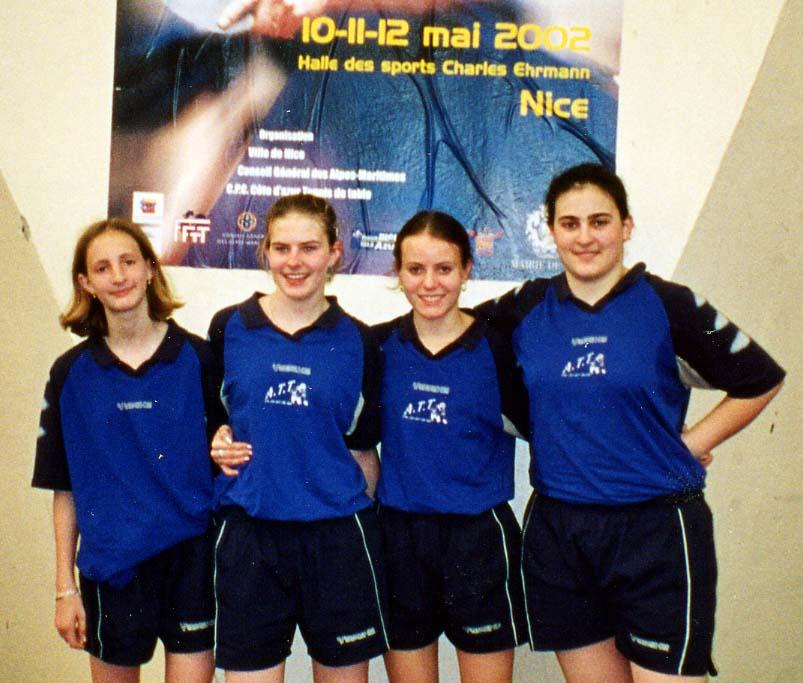 Equipe Filles Championne de France N2 à Nice