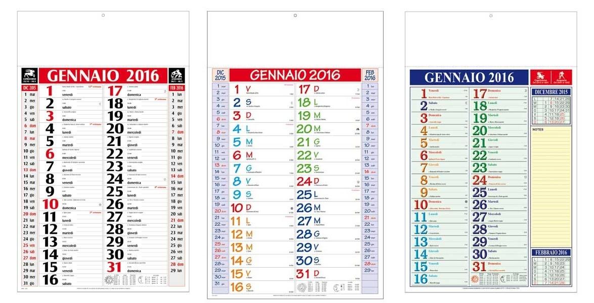 Calendari 2016 personalizzati