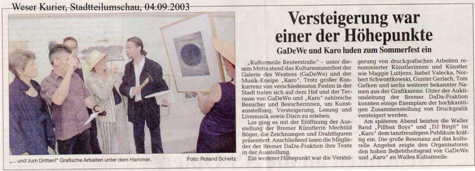 04.09.2003, Weser-Kurier