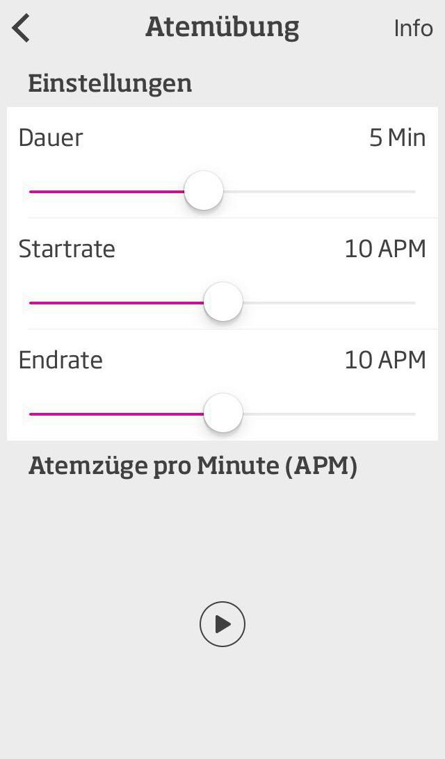Auch Atemübungen sind Teil der App. Diese helfen ebenfalls bei der Entspannung und dem Stress-Abbau.