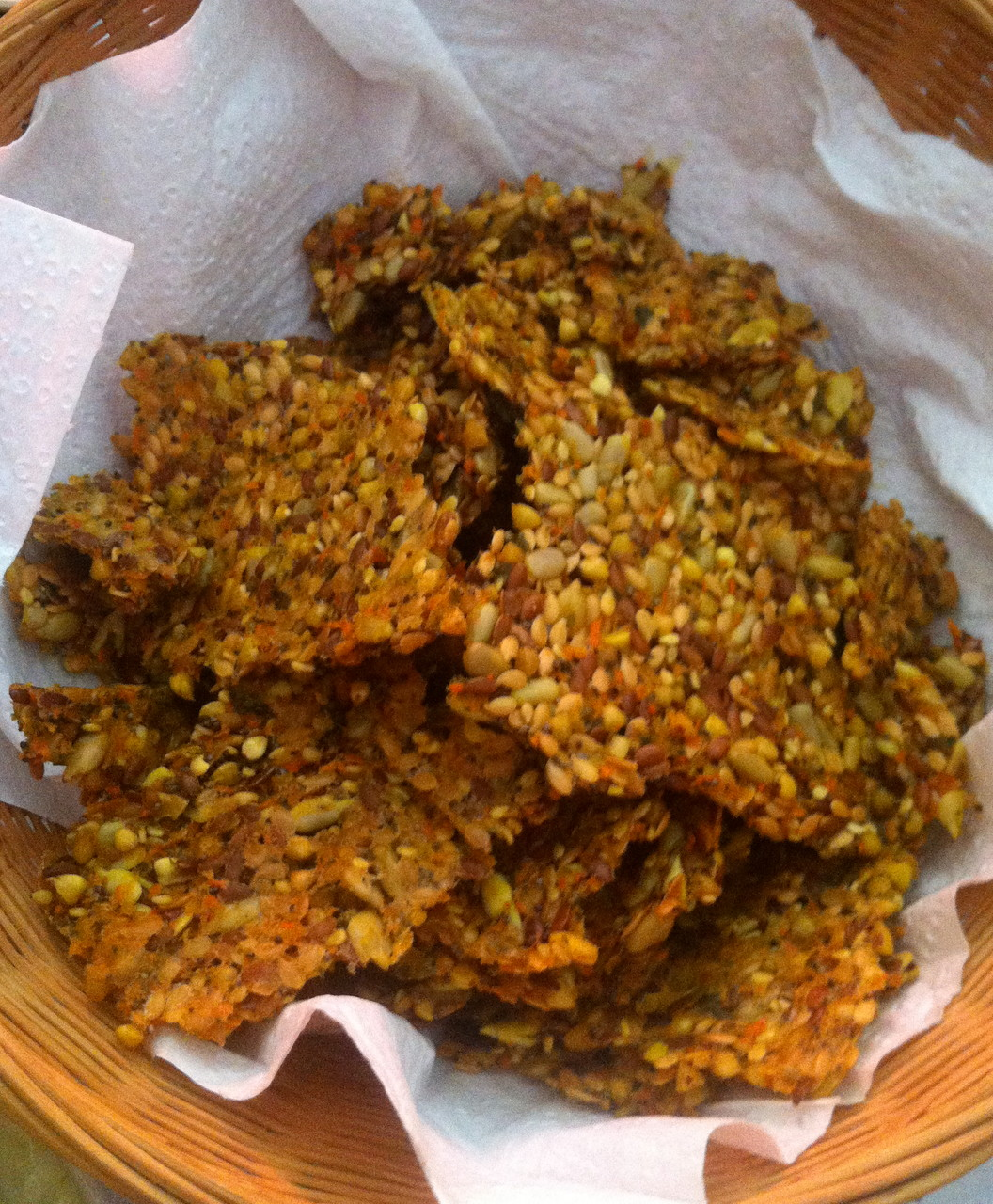 Craker deshidratado de semillas y trigo sarraceno