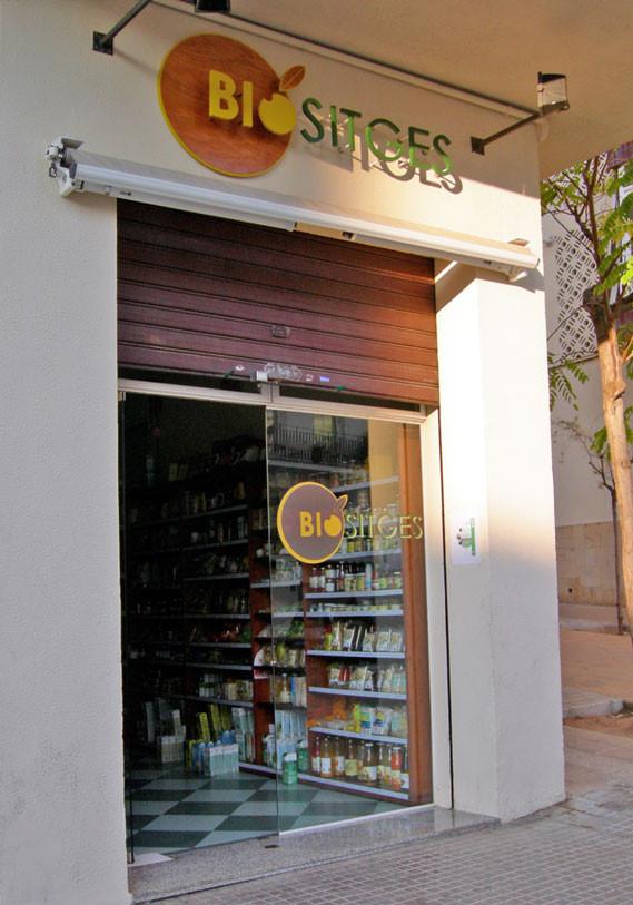 tienda BioSitges rótulo