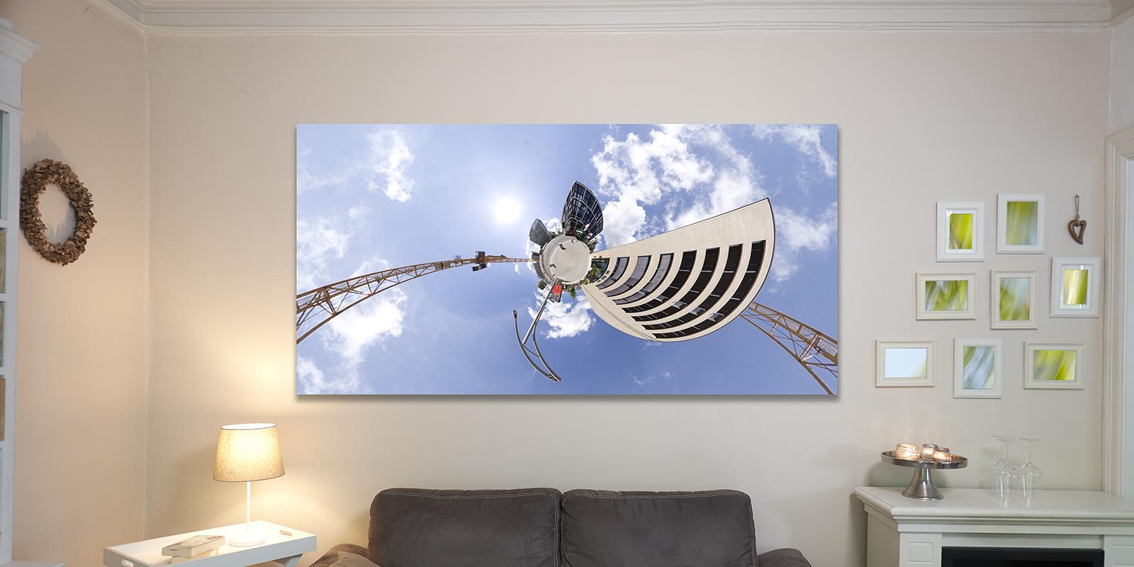 Bildbeispiel in der Größe 100x200cm