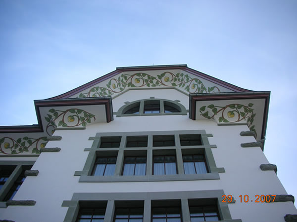 Schulhaus Alt St. Georg Sursee, Dekorationsmalerei