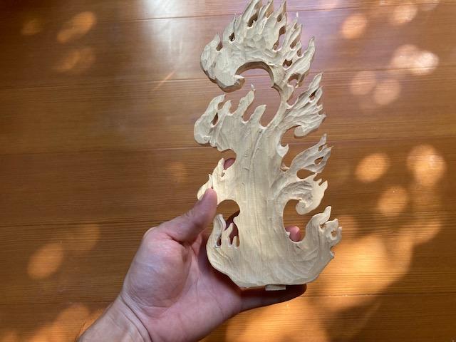木彫りの不動明王像 神奈川県川崎市