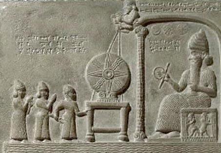 ... und dort kommt es her: die Sonnenscheibe des assyrischen Sonnengottes Shamash