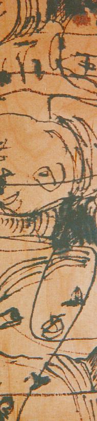 Künstlertisch: Die Malerin Monika Gebhart hat einen Tisch bemalt. Direkt auf die Platte. Anschließend wurde er farblos lackiert und die Kanten geölt.