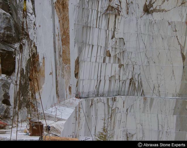Steengroeve Marmor in Carrara (Italien)