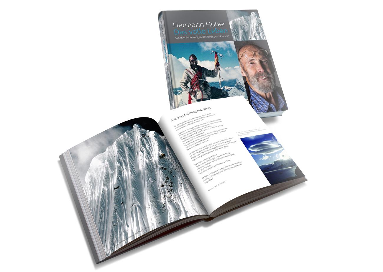 Bildband über den Bergsteiger Hermann Huber