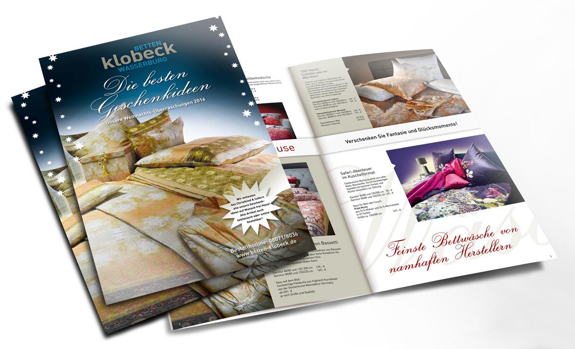 Betten Klobeck, Wasserburg: Sonder-Broschüren, Anzeigen und Aktionen