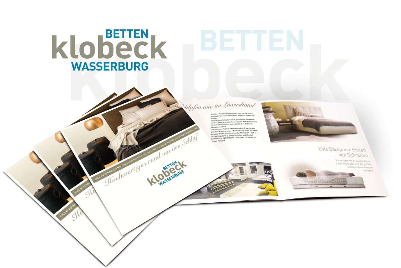 Betten Klobeck, Wasserburg: Neues Firmenlogo, Imagebroschüre