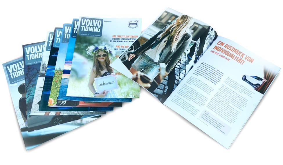 Volvo Tidning: Vierteljährliches Händlermagazin (Konzept, Redaktion, Layout)