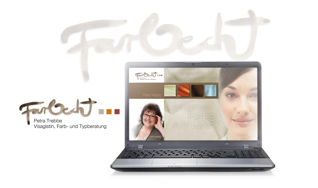 Farbecht, Stil- und Farbberatung: Logo, Flyer und Website