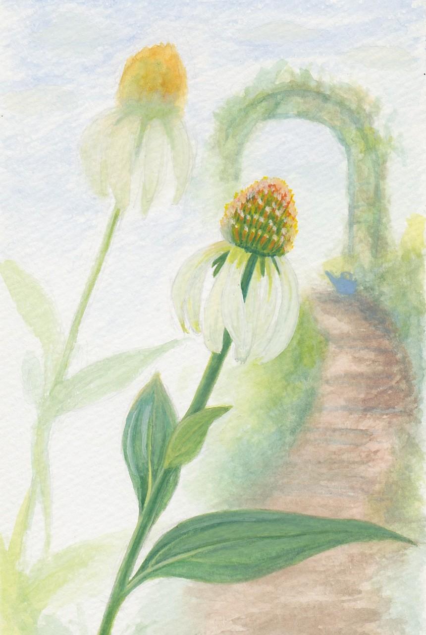 Fleur dans un jardin