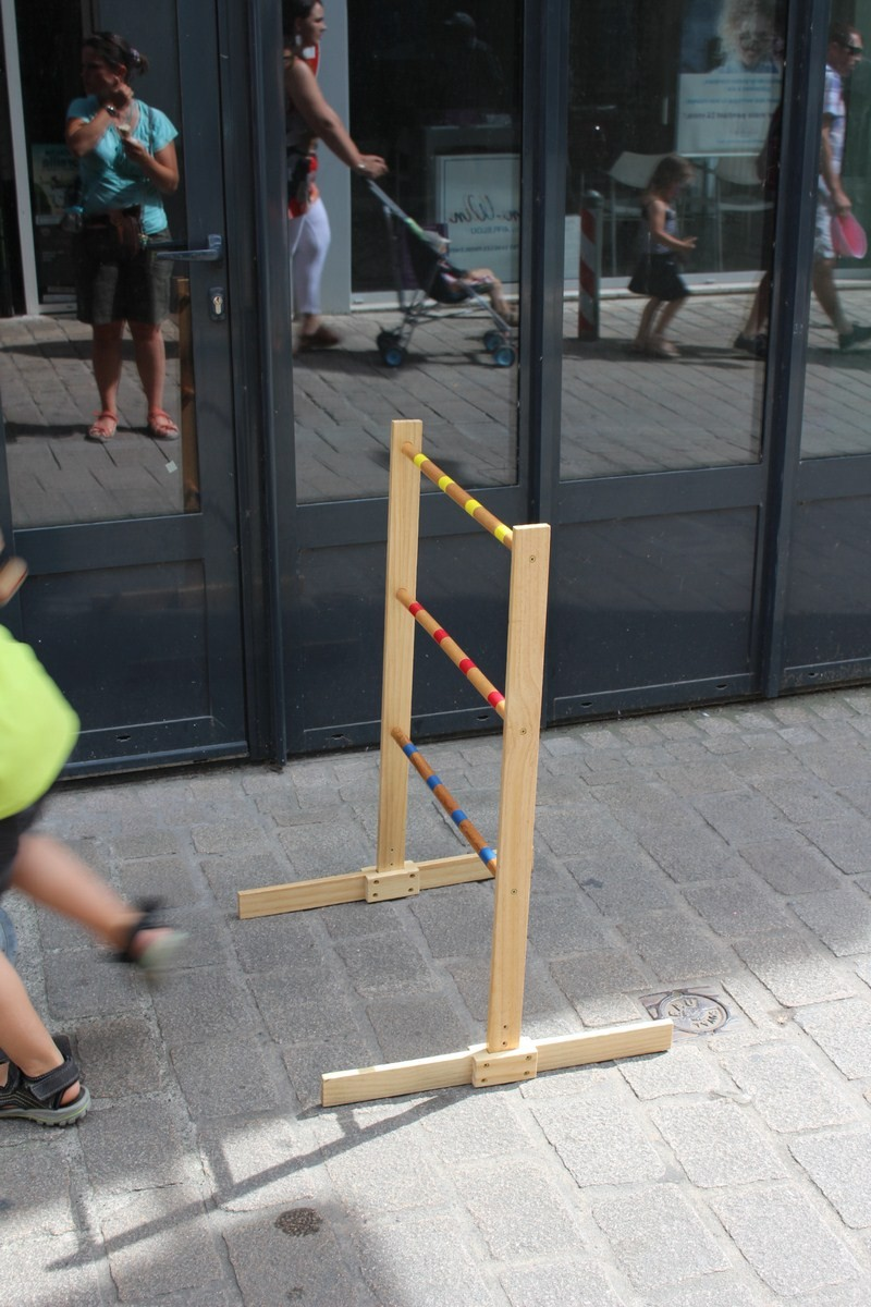 On peut retrouver des grands jeux en bois originaux