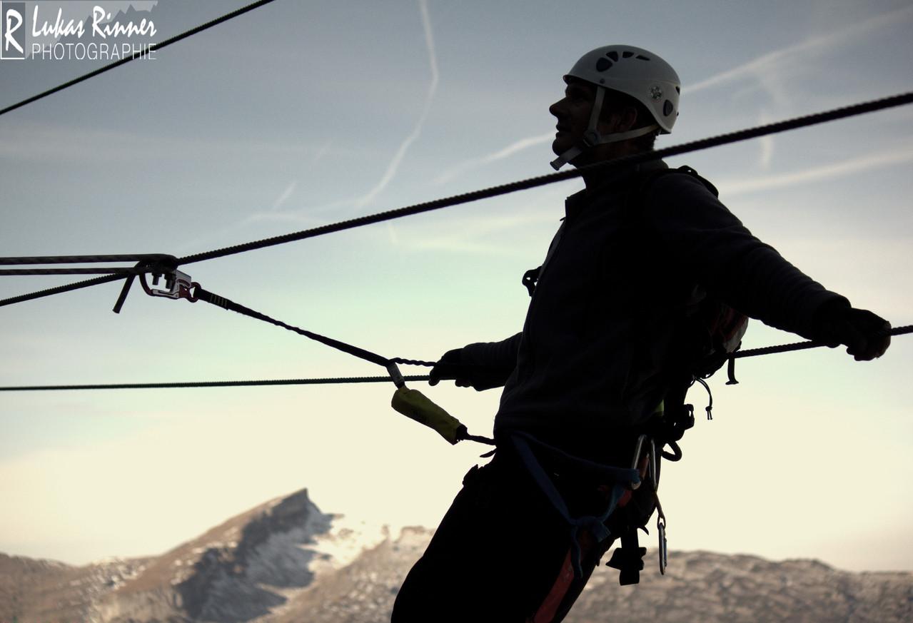 Oliver Rinner, 2 Länder-Klettersteig, Kanzelwand, Kleinwalsertal/Allgäu