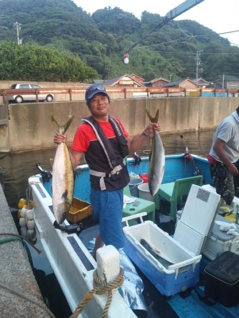 完全ふかせ釣り玄達瀬遊漁,ヒラマサ70~83センチまで4本,それ以外にヒラマサ20本以上 2013.8月12日