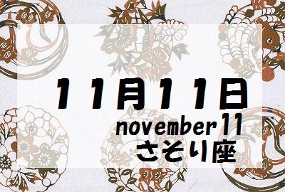 11月11日誕生石