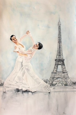 Ines und Tania in Paris/ Bild: Tatyana Ilieva