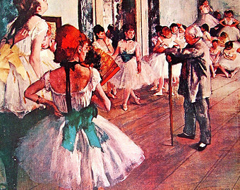 Edgar Degas: Der Tanzunterricht/ Lizenz: Public Domain
