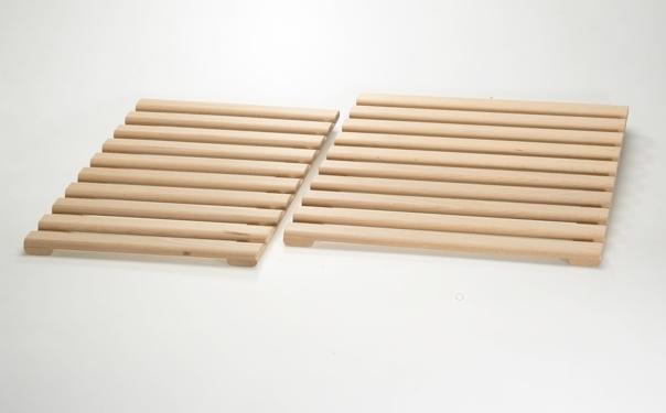 Caillebotis en bois de hêtre naturel 9402012 et 9402014