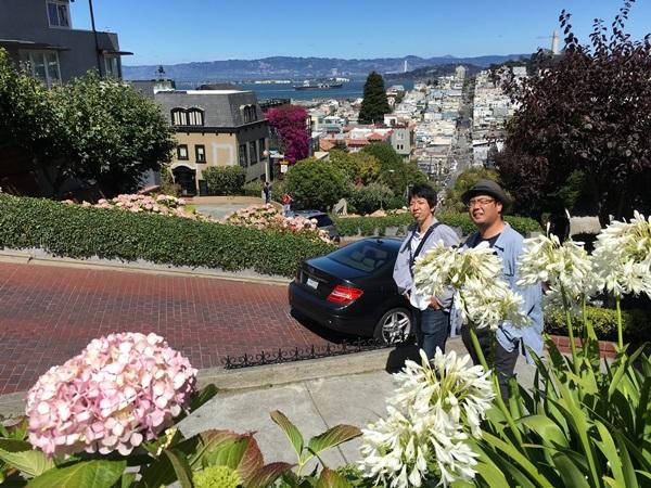 坂道の多いサンフランシスコの街を散策(カリフォルニア州)