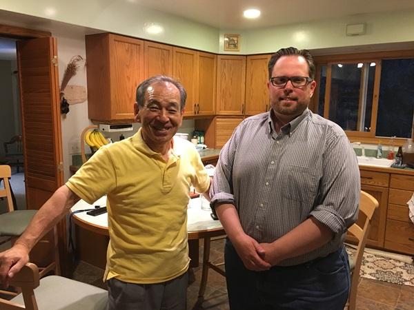 高瀬会長とかつての海外インターン生グッドマン(ミネソタ州)