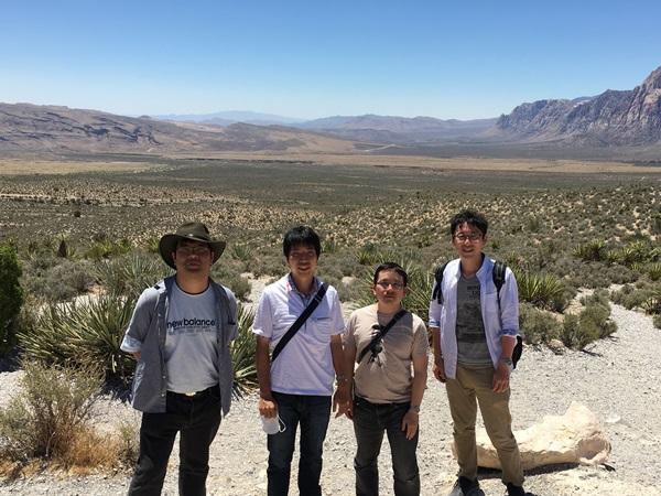 ネバダ州の砂漠地帯