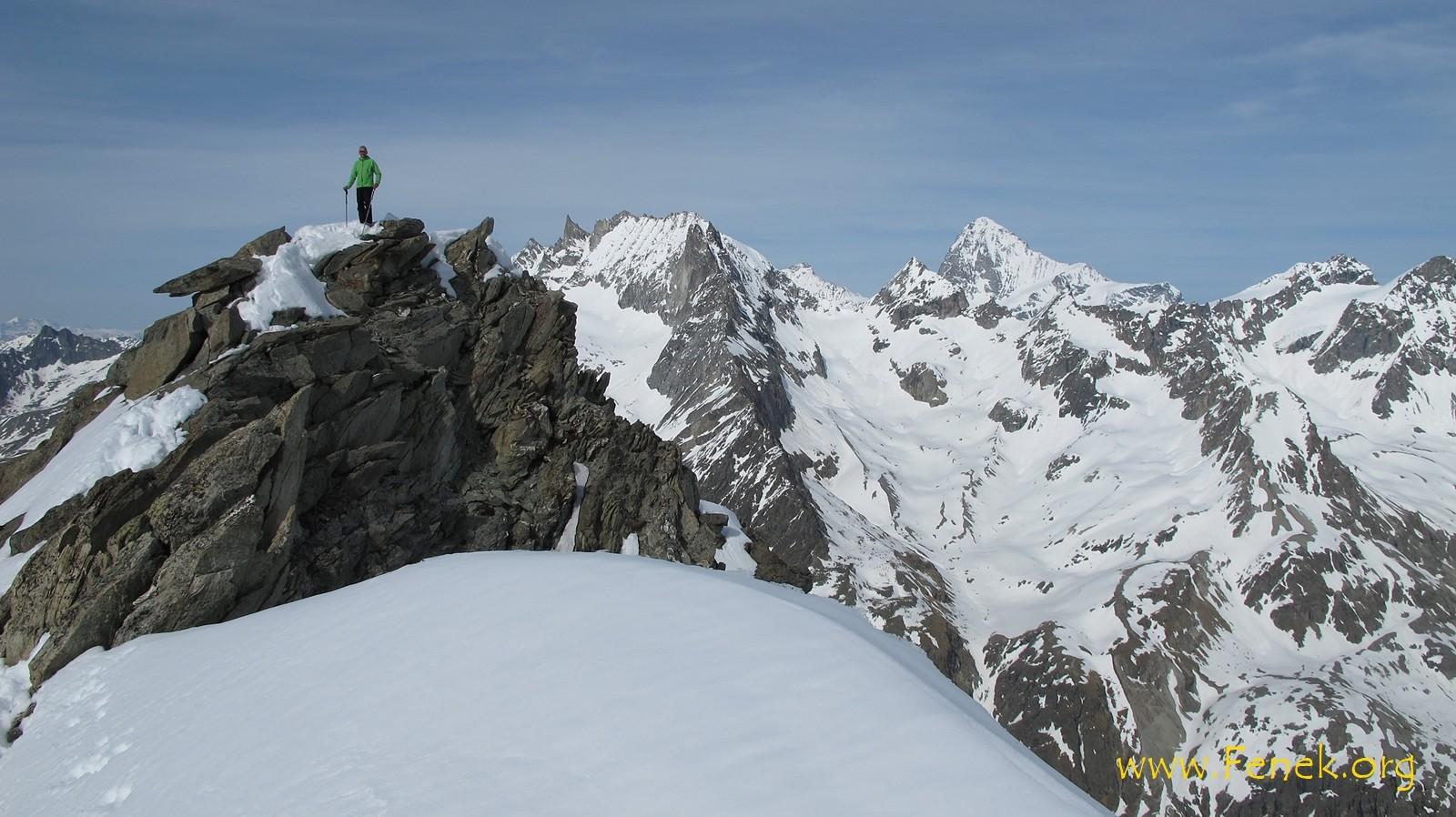 zweiter Gipfel des Tages.....Pointe des Vignettes