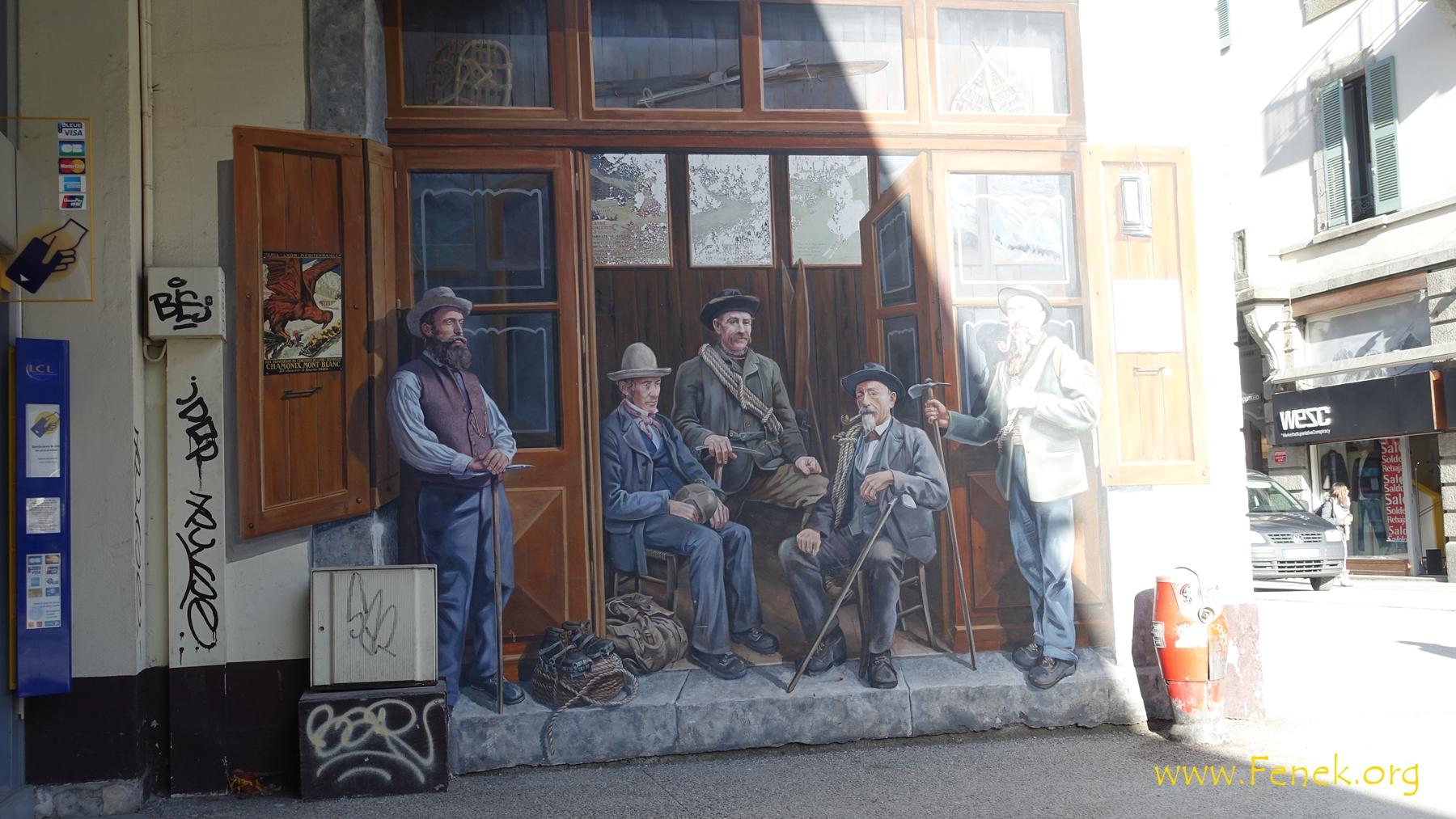 Fassade in Chamonix