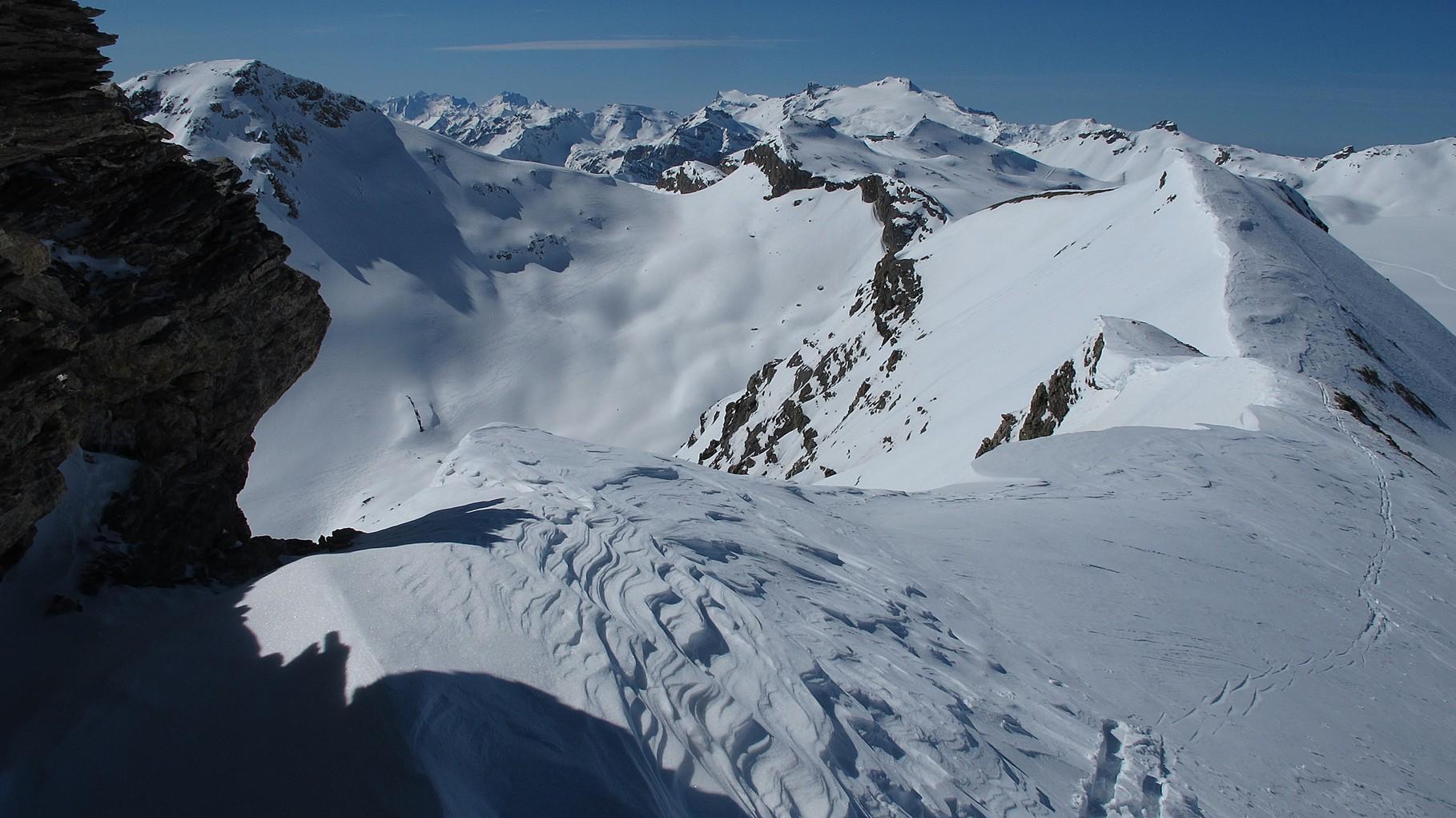 beim Skidepot - links der Mont Bonvin