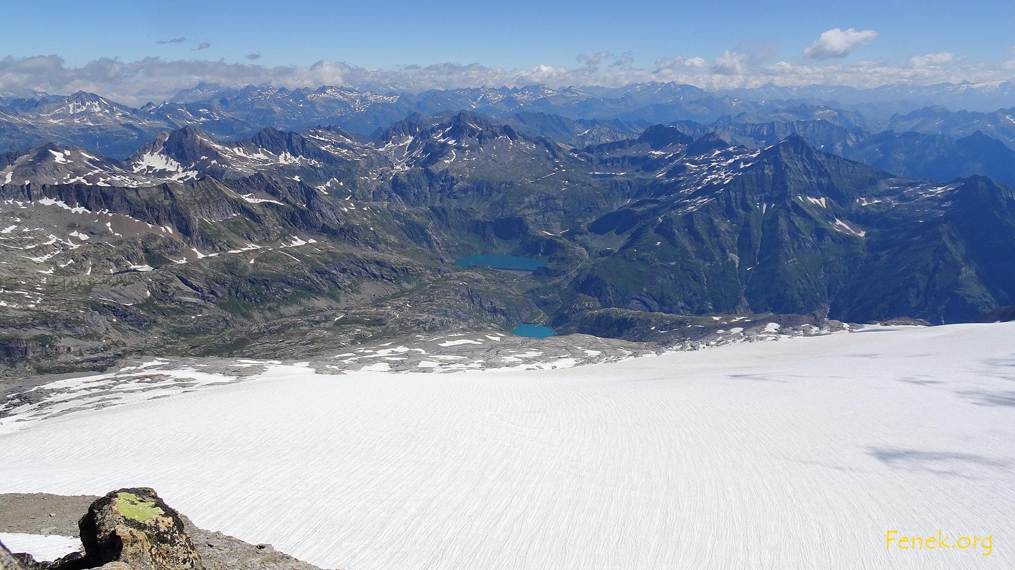 der Gletscher der uns viel Schweiss kostete....beim hinteren Stausee ist Tourende