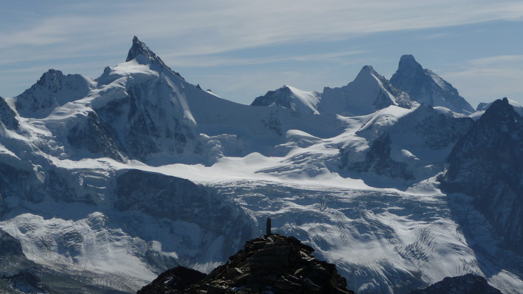 Zinalrothorn vom Gipfel Les Diablons