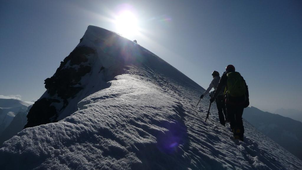 auf dem Gipfelfirn.....
