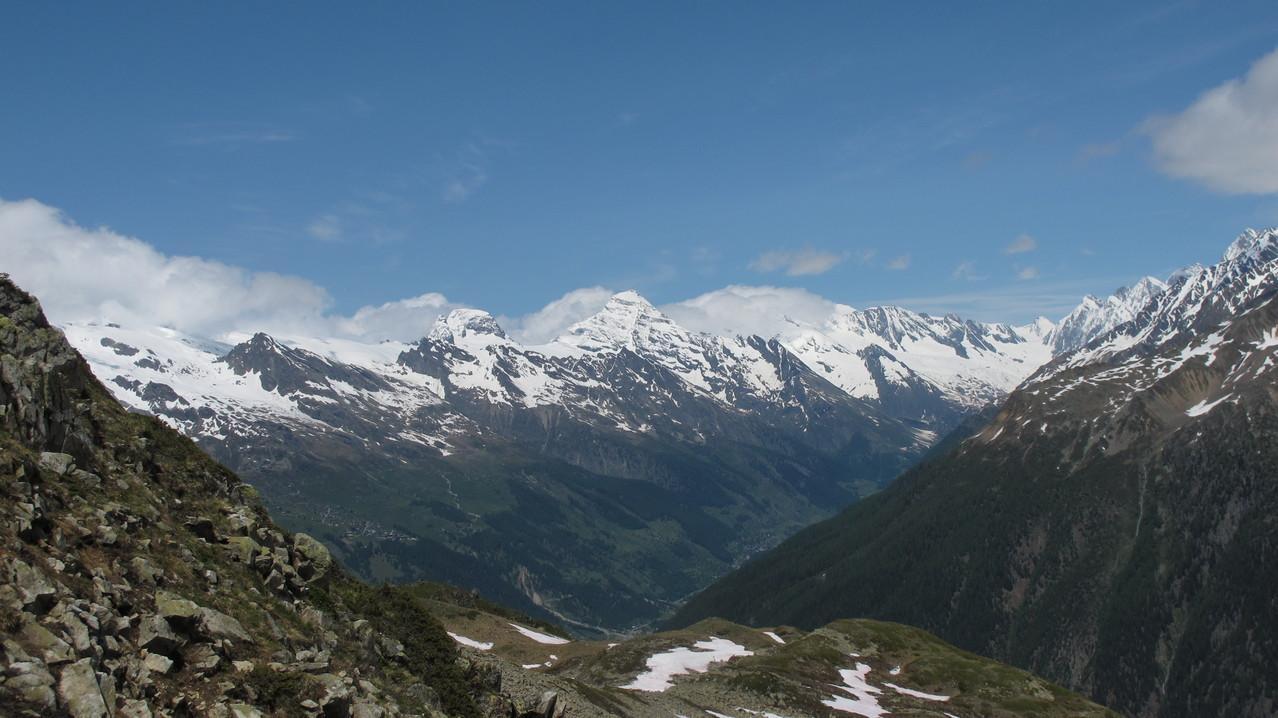Petersgrat und die dominanten  Breithorn und Tschingelhorn