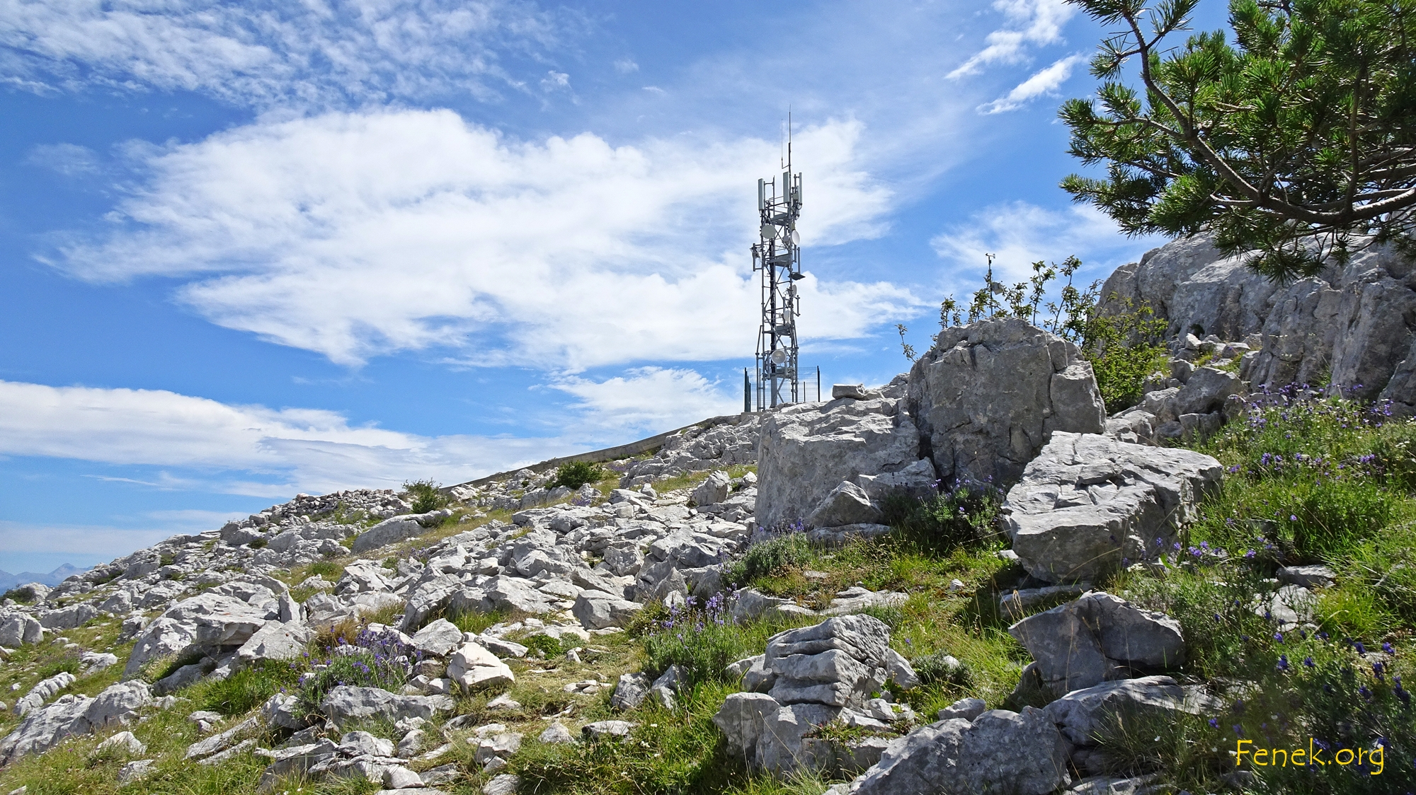 der Gipfel wird sichtbar