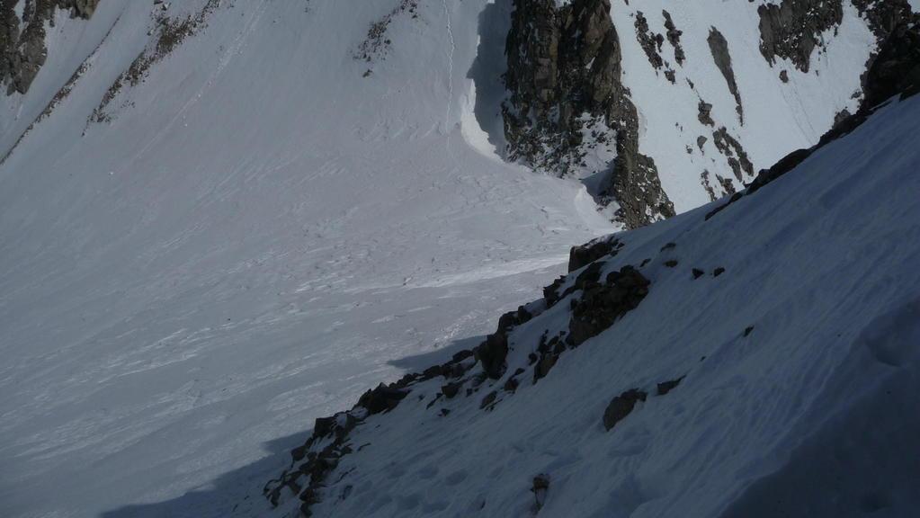 im Aufstieg Ostgrat Sackhorn