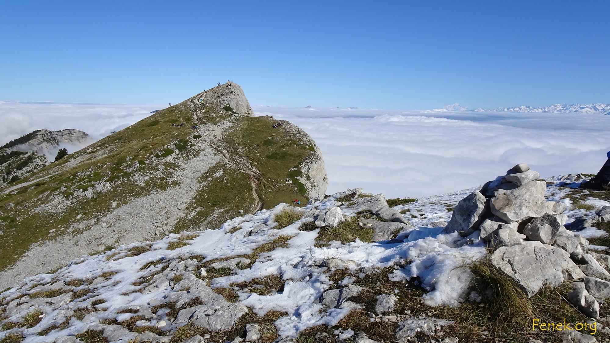 vom Vorgipfel Sicht zum Gipfel