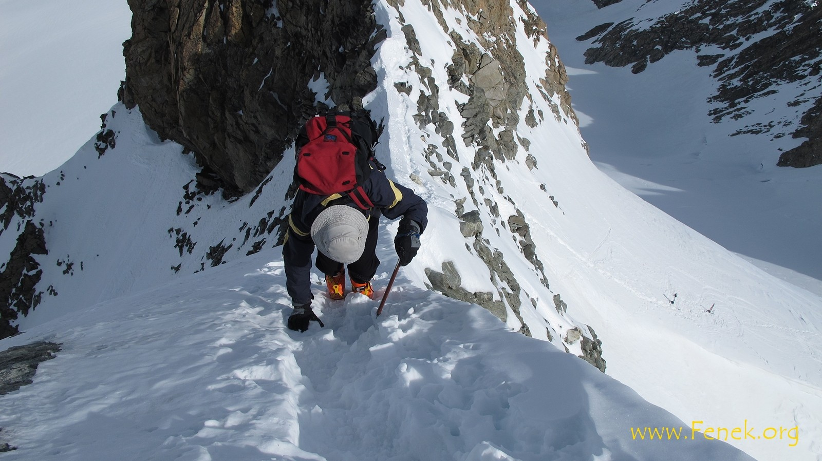 Martin am Gipfelgrat