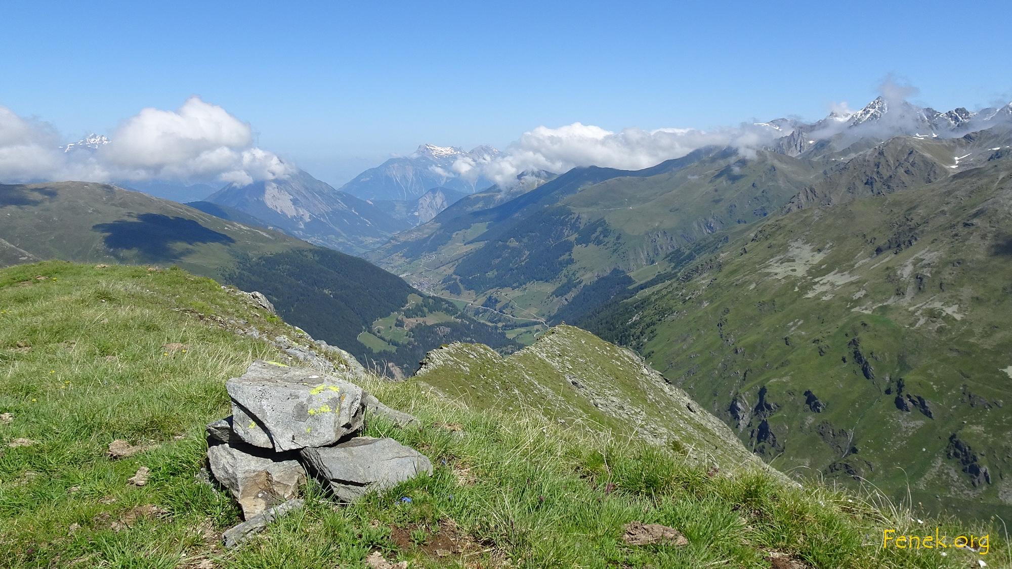 Teil des Nordgrates und Val d'Entremont