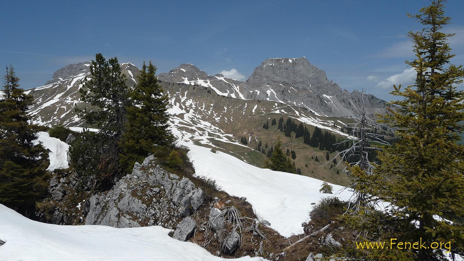 rechts le Rubli - ein interessanter Berg mit Edelweiss auf dem Gipfel ;-)