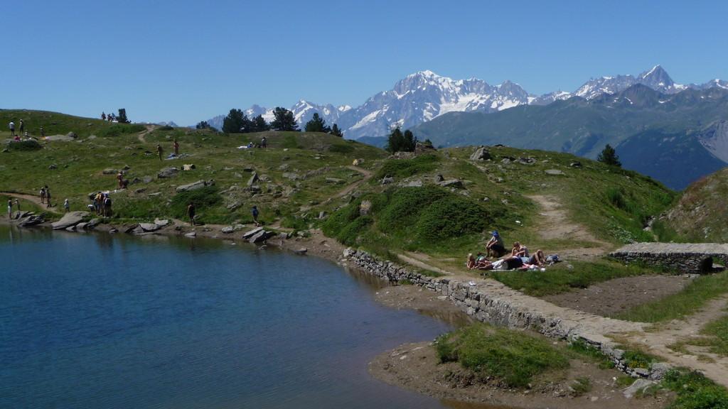 Lago und Mont Blanc