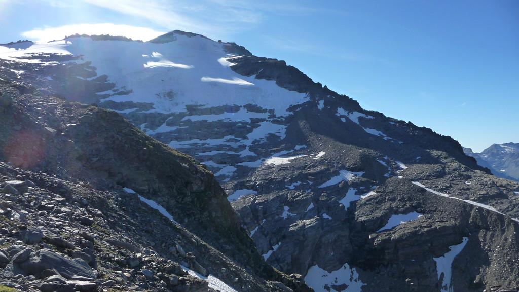 rechts der Westgrat - unsere Aufstiegsroute