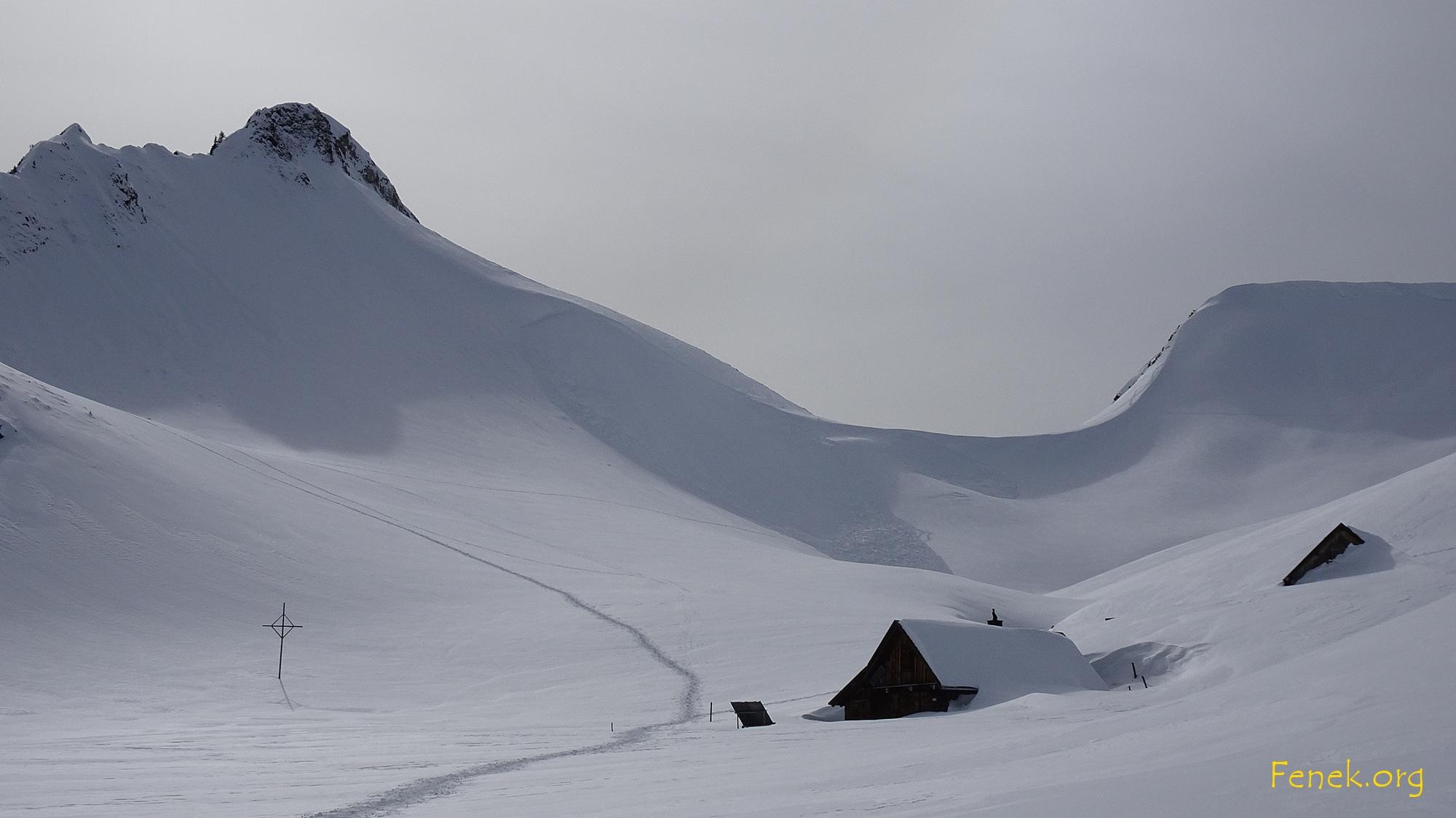 das ausgelöste Schneebrett