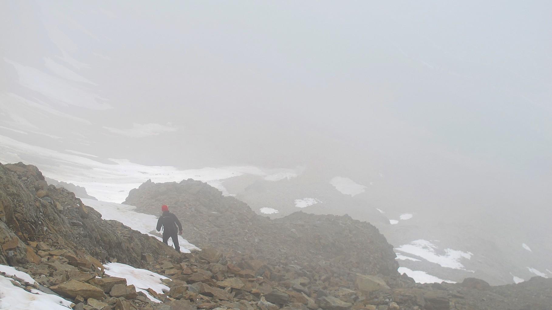 Abstieg vom Bietschjoch